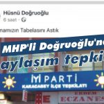 MHP'li Doğruoğlu'nun paylaşımına tepki!