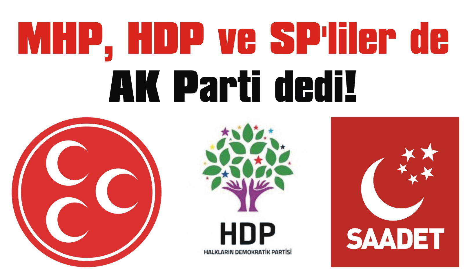MHP, HDP ve SP'liler de AK Parti dedi!