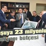 Komşuya 23 milyonluk altyapı bütçesi