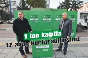 1 ton kağıtla 17 ağaç kurtarabilirsiniz
