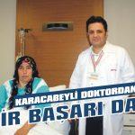 Karacabeyli doktordan bir başarı daha