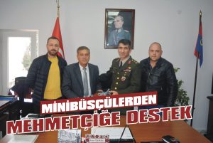 Minibüsçülerden Mehmetçiğe destek
