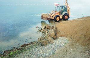 Denizdeki yosunlar temizleniyor