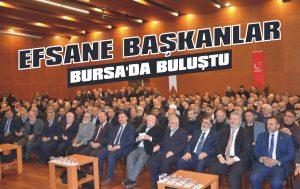 Efsane başkanlar Bursa'da buluştu