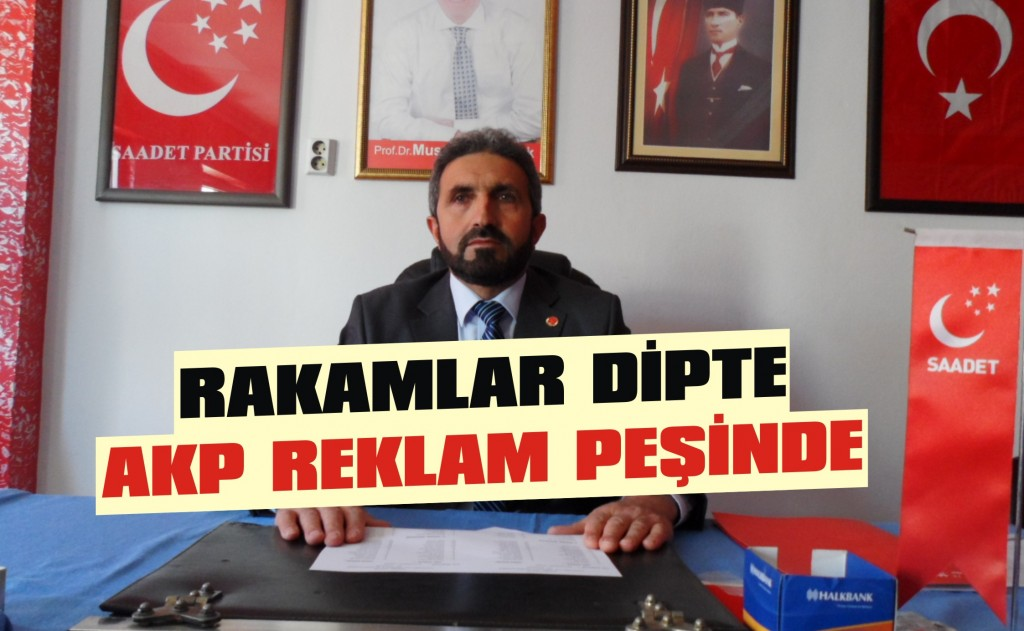 Rakamlar dipte AKP reklam peşinde