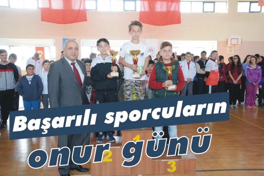 Başarılı sporcuların onur günü