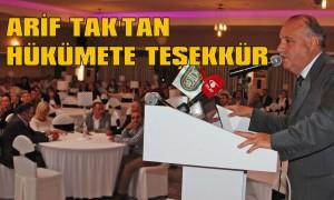Tak'tan hükümete teşekkür