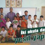 İki okula daha 'yeşil yaprak'