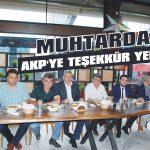 Muhtardan AKP'ye teşekkür yemeği