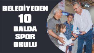 Belediyeden 10 dalda spor okulu