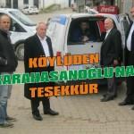 Köylüden Karahasanoğlu'na teşekkür