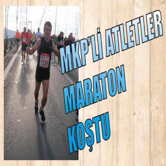 "MKP""li atletler maraton koştu"
