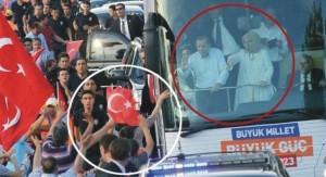 Erdoğan çiftinin korku dolu anları!