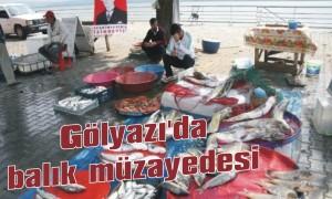 Gölyazı'da balık müzayedesi